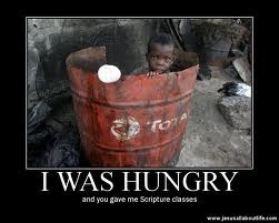 was hungry and you gave me scripture classes .. via @gayecrispin