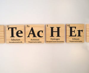 Teacher gift, periodic table of elements