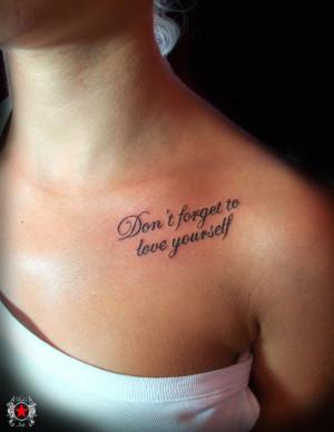 Cute Tattoo Quotes, tattoo designs, tattooing, tattoos, designs ...