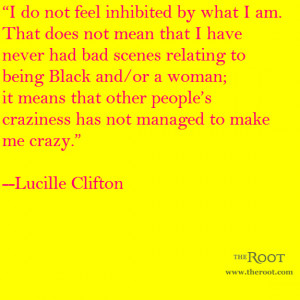 Read The Root' s appreciation of Lucille Clifton here.