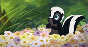 Bambi Quotes Flower Flower - a shy skunk