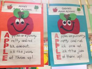 Apple Acrostic Poem Craftivity