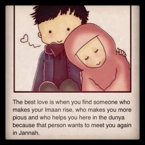 The best love is seeking Jannah together iA quote