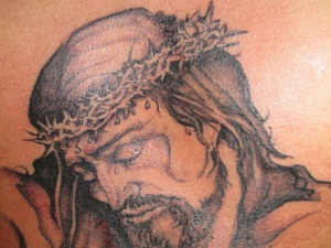 Hood Tattoo Designs For Men Jesus tattoos for 2013