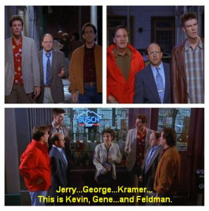Seinfeld quote - Elaine's two groups of friends, 'The Bizarro Jerry'
