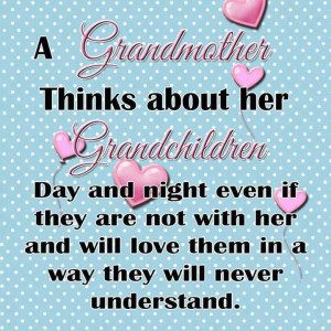 Grandmothers and grandchildren...