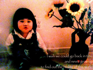 Wish we Could go back in Time – Baby Quote