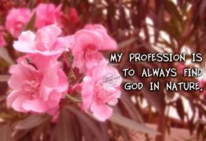 Find God In Nature