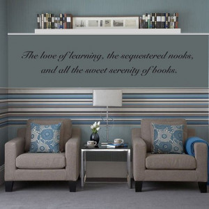 Love of learning, nooks, books quote Wall Decal Vinyl Sticker Art 4