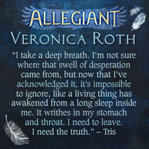 Exclusive quote reveal from Allegiant by Veronica Roth on Sugarscape ...