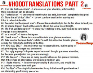 Funny Slang Quotes http://www.tumblr.com/tagged/ghetto%20translations