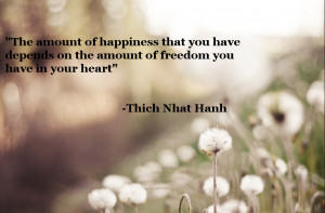 """The amount of happiness….."""" -Thich Nhat Hanh"""