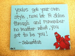 ... image include: little mermaid, quote, sebastian, be you and my style