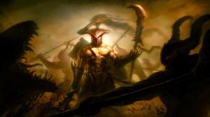 Fantasy - Battle Warrior Weapon Battlefield Monster Creature Dark ...