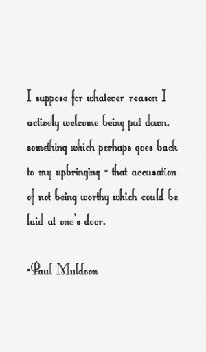Paul Muldoon Quotes & Sayings