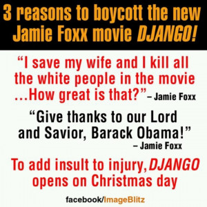 but still relevant... Direct quotes from Jamie Foxx. Is one a RACIST ...