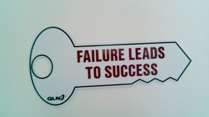 this key is so right failure leads to success if