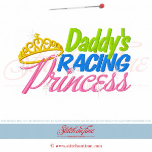 5642 Sayings : Daddy's Racing Princess 5x7