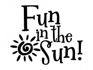 Fun in the sun Cute Kids Decor vinyl wall decal quote sticker ...