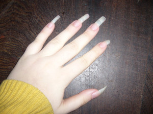 Natural Long Nails Danis Chan