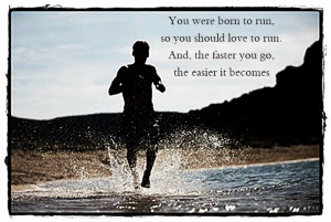 Motivational poster quotes about running