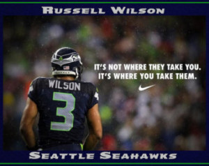 Russell Wilson Seahawks Quote Mini Poster Wall Art Print 8x11
