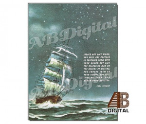 Inspirational Quote on Ship at Sea Print Nautical by ABDigital, $4.00