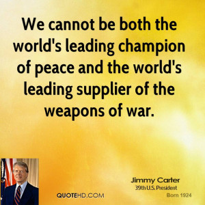 Cannot Both The World Leading Champion Peace And