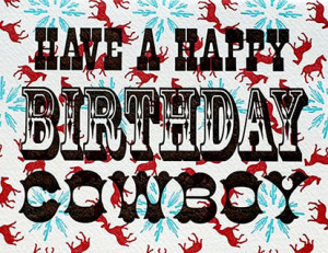Happy Birthday Cowboy , Blonde with Palomino Posters - at AllPosters ...
