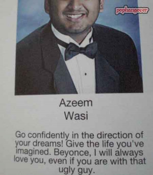 This guy loves Beyonce, and used his senior yearbook quote to let you ...