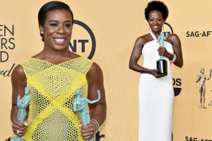 Uzo Aduba and Viola Davis make SAG history as first black women to win ...