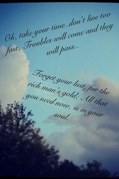 ... lyrics. No matter how many decades pass since I first heard it, it