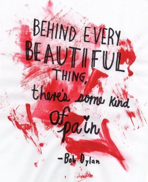beautiful, girl, pain, quote, red, text