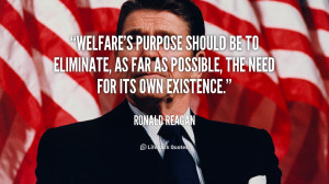 Ronald Reagan Quotes On Welfare
