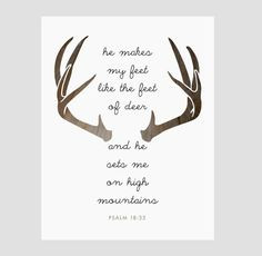 INSTANT DOWNLOAD. Psalms Quote, Deer Antlers, Christian Bible Verse ...