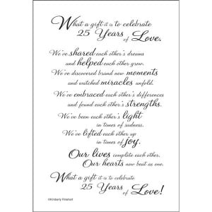 25th wedding anniversary poemsVERSE132 E 25th Anniversary Poem for a ...