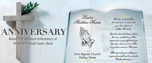 Pastor Anniversary Ordination Crystal