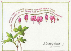Bleeding Heart with Quote Greeting Card