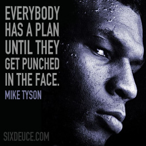 Mike Tyson Quote for those times in life when you think your down ...