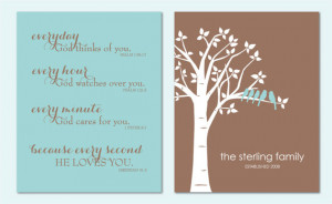 Everyday God Loves You - Inspirational Scripture Print - Family Tree ...