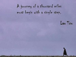 Once single step travel picture quote