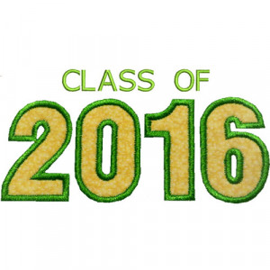 Class Of 2016 Sayings Varsity class of 2016 applique