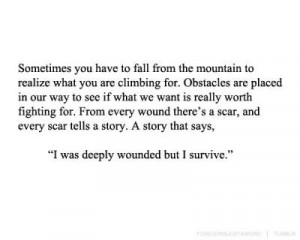 life, quote, scar, tattoo, text