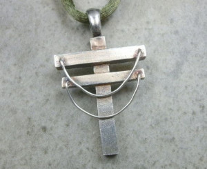 Power Line Pendant in Fine Silver Utility Pole by PartsbyNC, $108.00