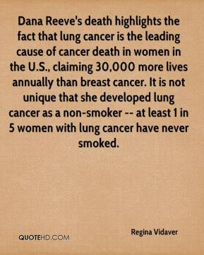 ... lung cancer as a non-smoker -- at least 1 in 5 women with lung cancer