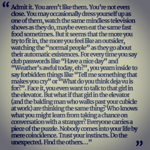 Quote from Timothy Leary .