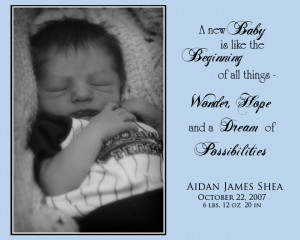 Welcome Baby Quotes He is an especially welcome