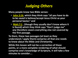 Judging Others