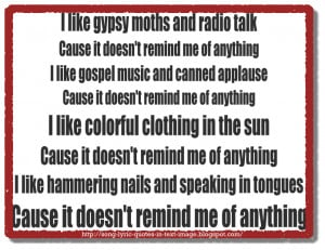 Doesn't Remind Me - Audioslave Song Lyric Quote in Text Image