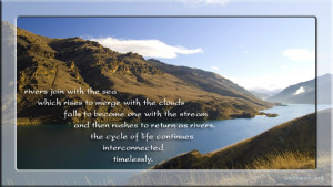 Rivers join with the sea … (Buddhist Quotes and sayings)